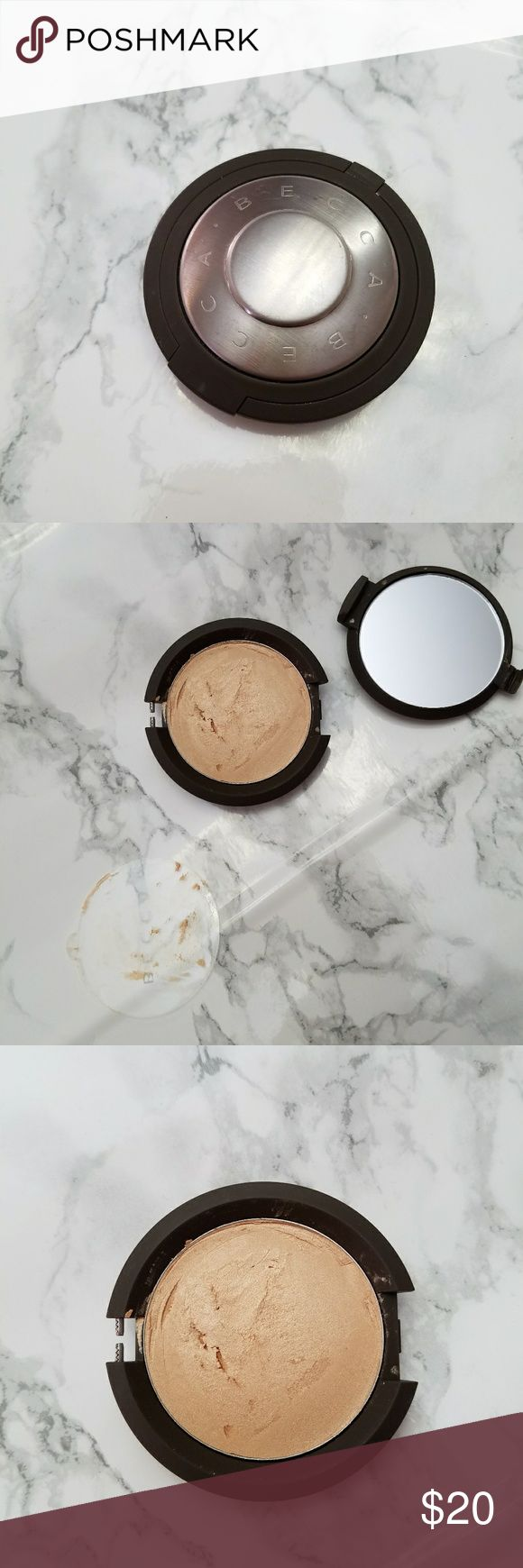 Becca skin perfector poured-moonstone Brand new but damaged in shipping. Top broken off and product got stuck on top of the plastic covering so I fixed it. Never used. BECCA Makeup Luminizer