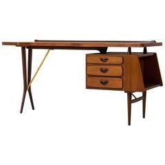 Iconic Mid-Century Modern Desk by Louis Van Teeffelen for Webe, 1959