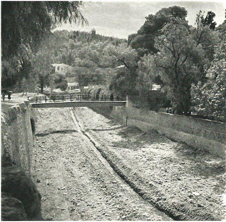 1940 ~ Ilissos river bed, Athens