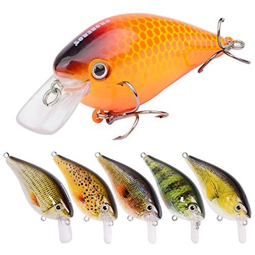 Proberos Crankbaits Set Lure Fishing Hard Baits Swimbaits Boat Ocean Topwater Lures Kit Fishing Tackle Hard Baits Set For Trout Bass Perch Fishing Lures Set (407).