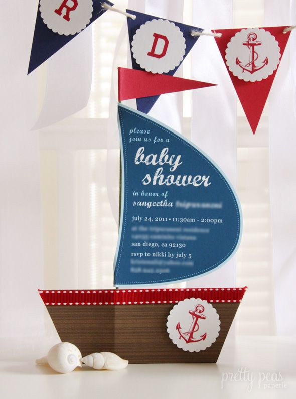 18 best nautical baby shower images on pinterest baby boy shower sailboatnautical invitation with how to find this pin and more on nautical baby shower filmwisefo