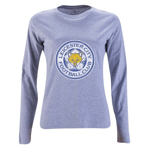 Leicester City FC Aged Crest Womens Long Sleeve T-Shirt