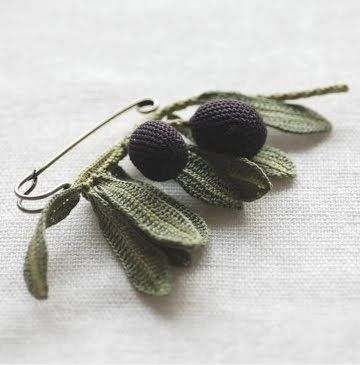 Lovely crochet pin
