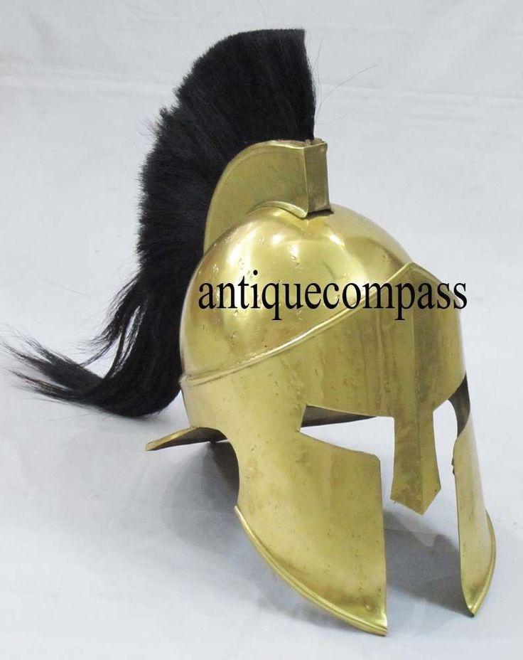 Medieval Collectible Armour KING LEONIDAS GREEK SPARTAN 300 MOVIE REPLICA HELMET