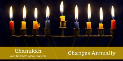 Hanukkah (Hebrew: חֲנֻכָּה, usually spelled חנוכה pronounced [χanuˈka] in Modern Hebrew, also romanized as #Chanukah or Chanuka), also known as the Festival of Lights, is an eight-day Jewish holiday commemorating the re-dedication of the Holy Temple (the Second Temple) in Jerusalem at the time of the Maccabean Revolt of the 2nd century BCE. Hanukkah is observed for eight nights and days, starting on the 25th day of Kislev according to the Hebrew calendar.