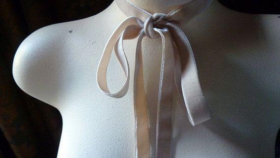 Ruban de velours 2 YARDS Nude Blush pour bijoux ou costumes, chapeaux, Couture…
