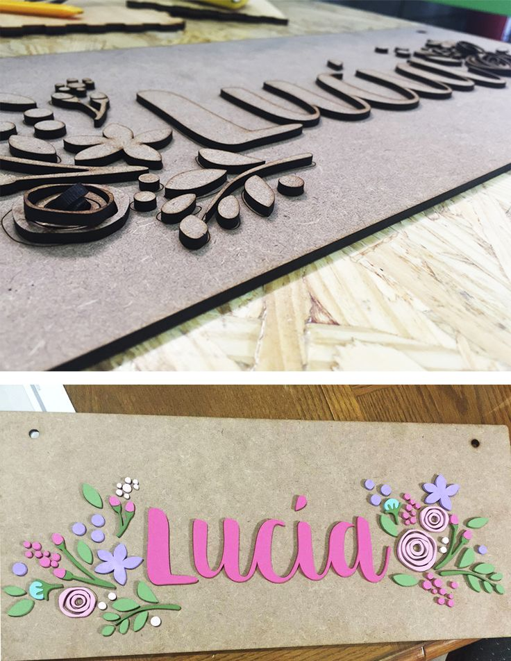 Nombre decorativo | Decorative name by elchangarromty #lasercut #letters #decor #design #elchangarromty