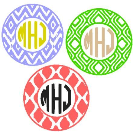 ikat tribal aztec monogram circle frame svg dxf for by theirishseashell silhouette cameo vinyl design aztec - Monogrammed Picture Frames