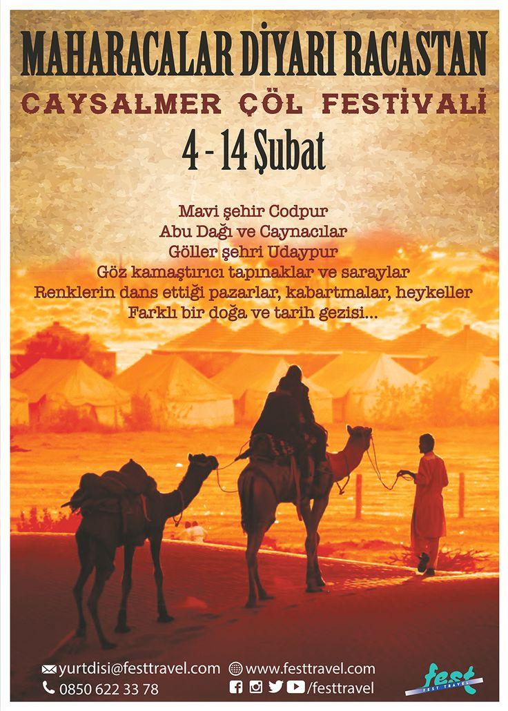 Maharacalar Diyarı Racastan ve Caysalmer Çöl Festivali