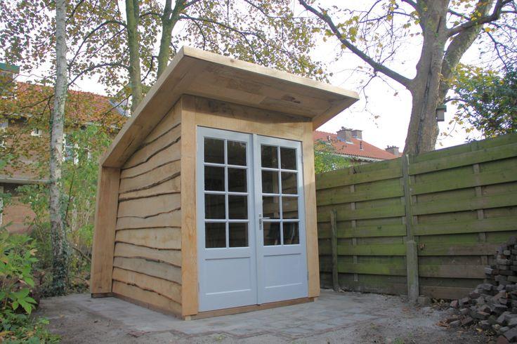 This backyard oak beaut was built by Nils Verweij in The Netherlands using 40 year-old reclaimed doors.