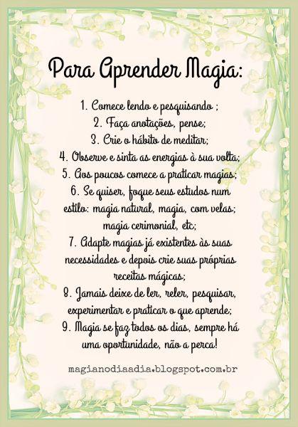 Magia no Dia a Dia: Para Aprender Magia http://magianodiaadia.blogspot.com.br/2017/01/para-aprender-magia.html