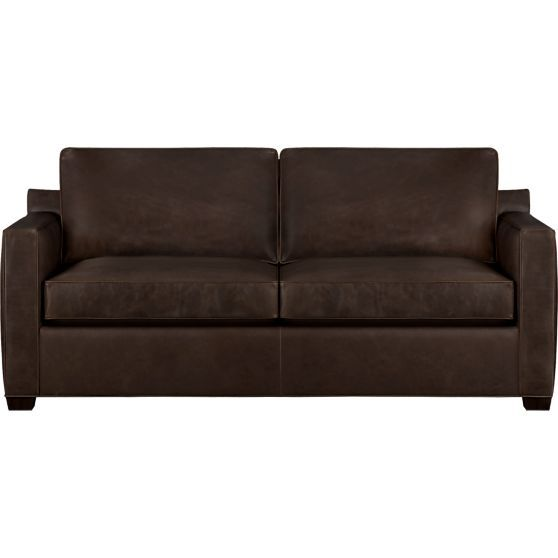 davis leather queen sleeper sofa in sofas crate and barrel