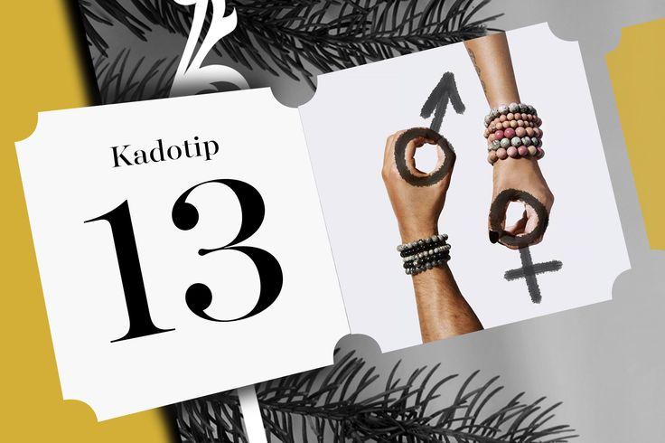 Achter deurtje 13 zitten de Gemini Bracelets for him and her verborgen. Deze armbanden gemaakt van natuursteen zijn een hit bij de hipsters en de fashionistas.