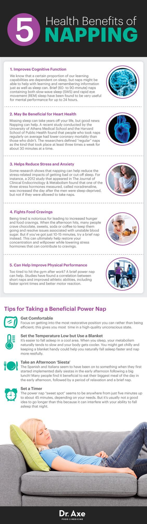 Benefits of power nap - Dr. Axe http://www.draxe.com #health #holistic #natural