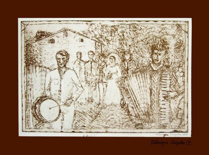 Grajcie! (Keep Playing!) akwaforta 2007 #etching #akwaforta #print #printing #druk #drukowanie #uljado