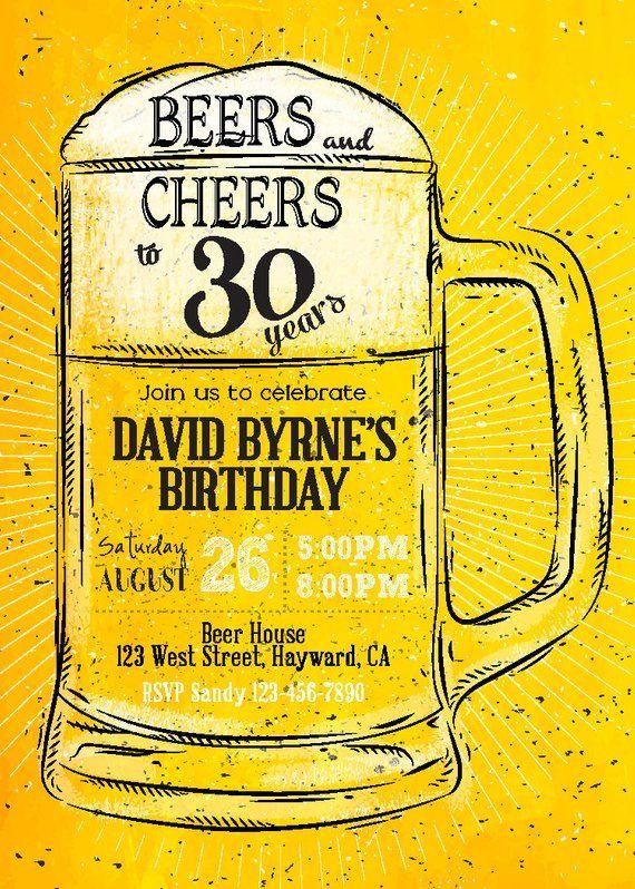 Invito Di Compleanno Cheers E Birre Digitale Invito Di