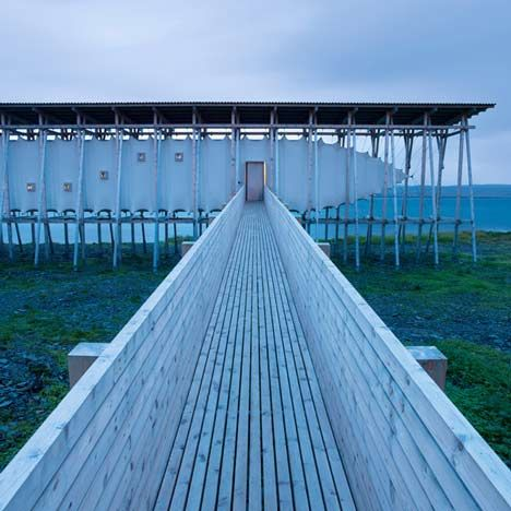 This memorial by Peter Zumthor commemorates suspected witches burned at the stake in 17th century Norway