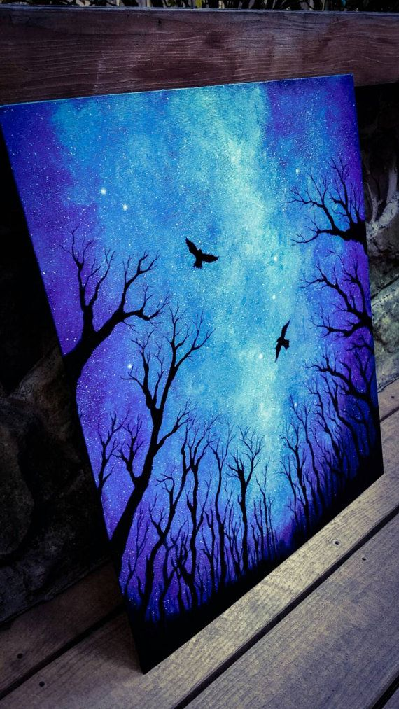 Night Sky Painting Acrylic E Art By Themindblossom
