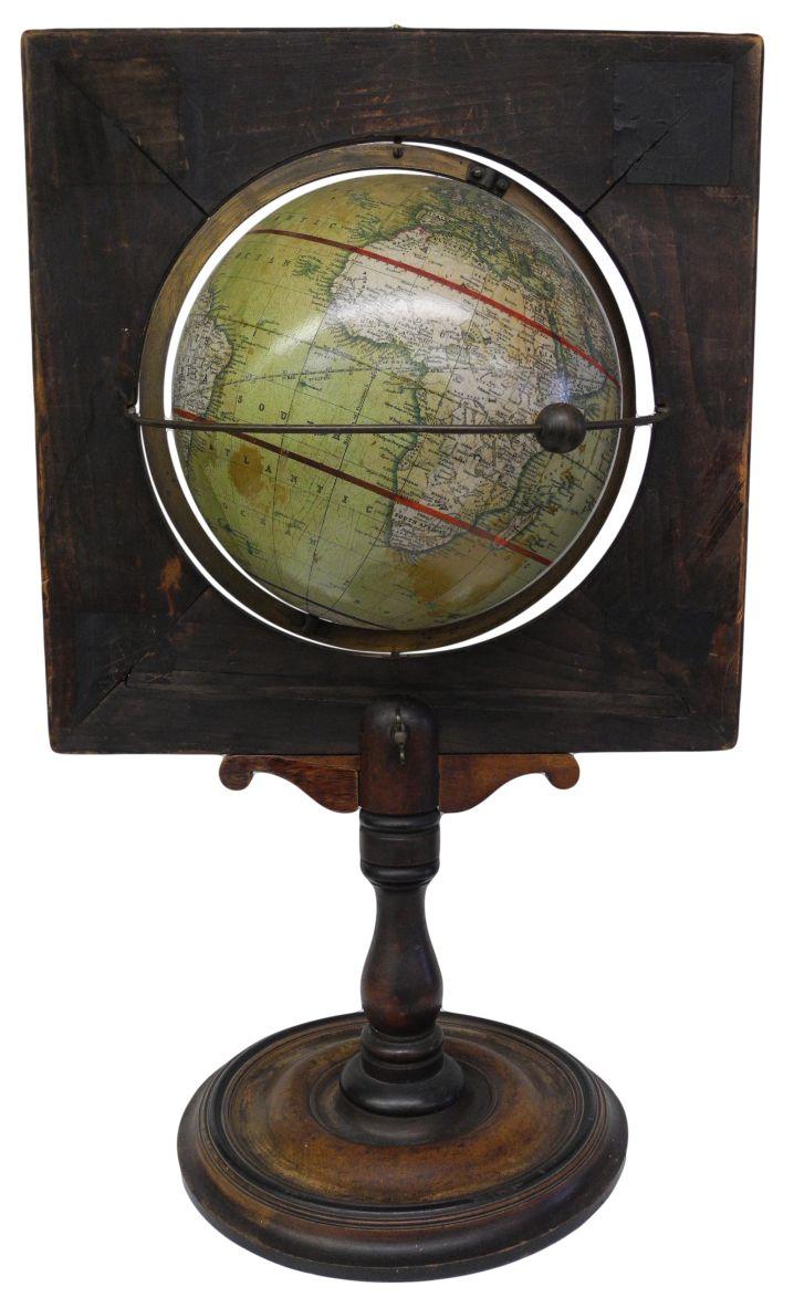 Malby's Terrestrial Globe,, Rare English Victorian Demonstration Globe , Globe Maker: George Philip & Son Ltd.; Cartographer: Thos. Malby & Sons (Published: George Philip & Son Ltd. 1870 ca. London)