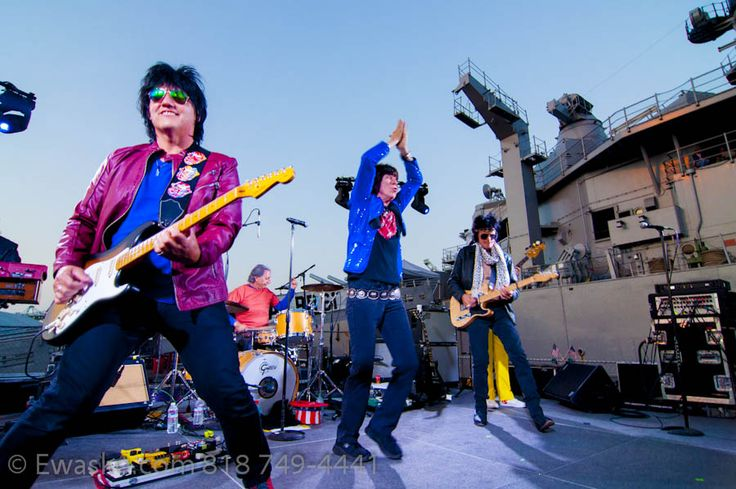 Memorial Day 2016 performance at USS Iowa by Mick Adams and the Stones.