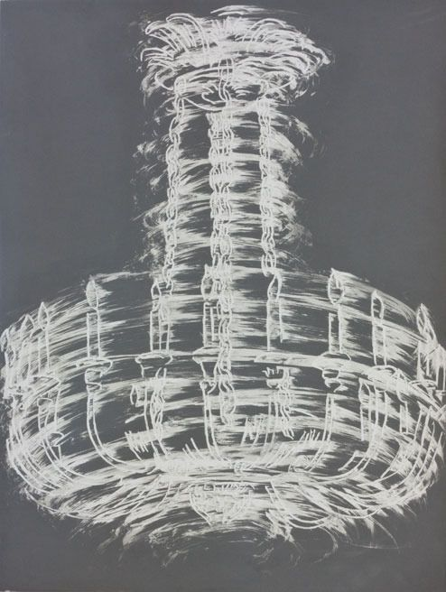 Gary Simmons - Chandelier Spin | From a unique collection of prints and multiples at http://www.1stdibs.com/art/prints-works-on-paper/