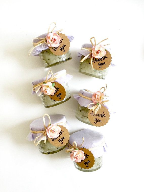 24 Lavender Sugar Scrubs with Calming Scent  Wedding guest favors , party favors, rustic wedding favors, Spring wedding favors