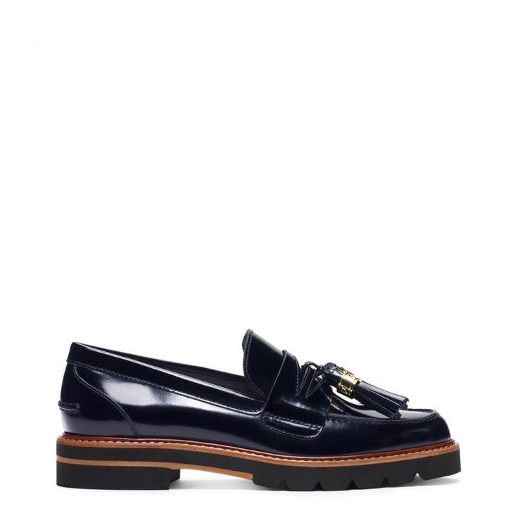 Stuart Weitzman The Manila Loafer Mirror Leather Navy - Stuart Weitzman  #womensstyle #womensfashion