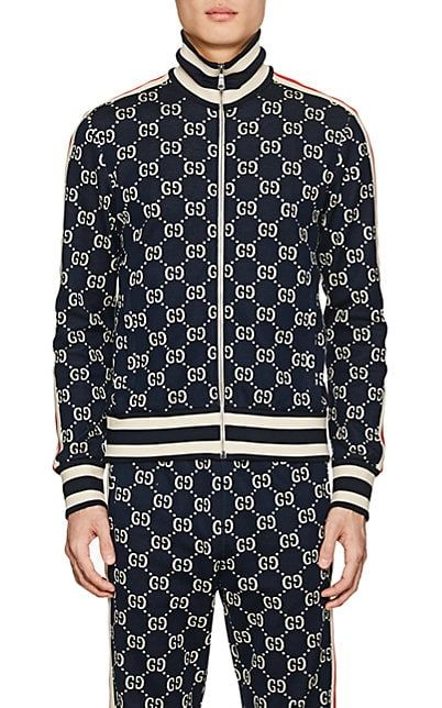 70b94ce30 We Adore: The GG Supreme Knit Cotton Track Jacket from Gucci at Barneys New  York