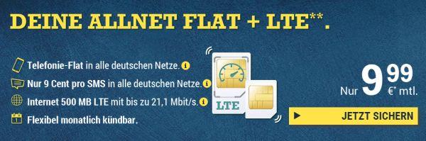McSIM: Allnet Flat mit 500MB LTE für unter 10 Euro | PrepaidRadar