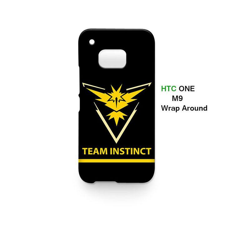 Team Instinct Pokemon GO HTC One M9 Case Cover Wrap Around