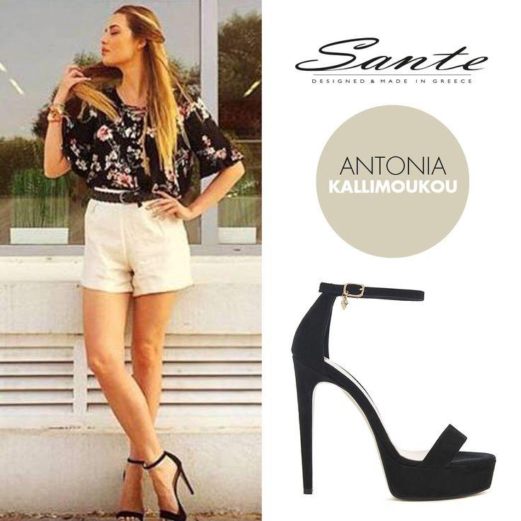 Antonia Kallimoukou (@kallimoukaki) in SANTE Sandals (SKU-91751) styling by Georgia Sinacheri (@sinacheri) #SanteSS16 #CelebritiesinSante Available in stores & online: www.santeshoes.com