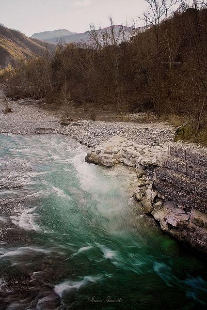 Trebbia river in Marsaglia, Piacenza
