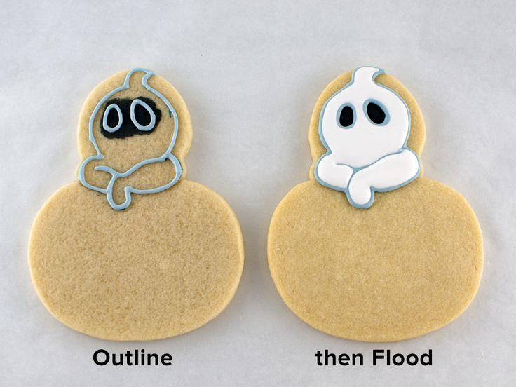 how to add a ghost to any halloween cookie