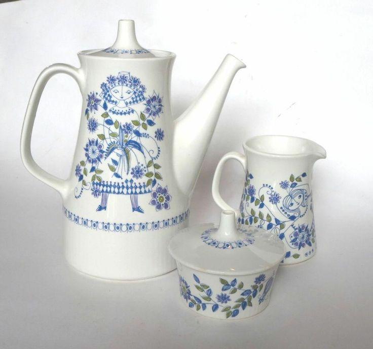 Figgjo Turi Design Lotte Coffeepot and Sugar and Creamer Made in Norway 1970'S | eBay