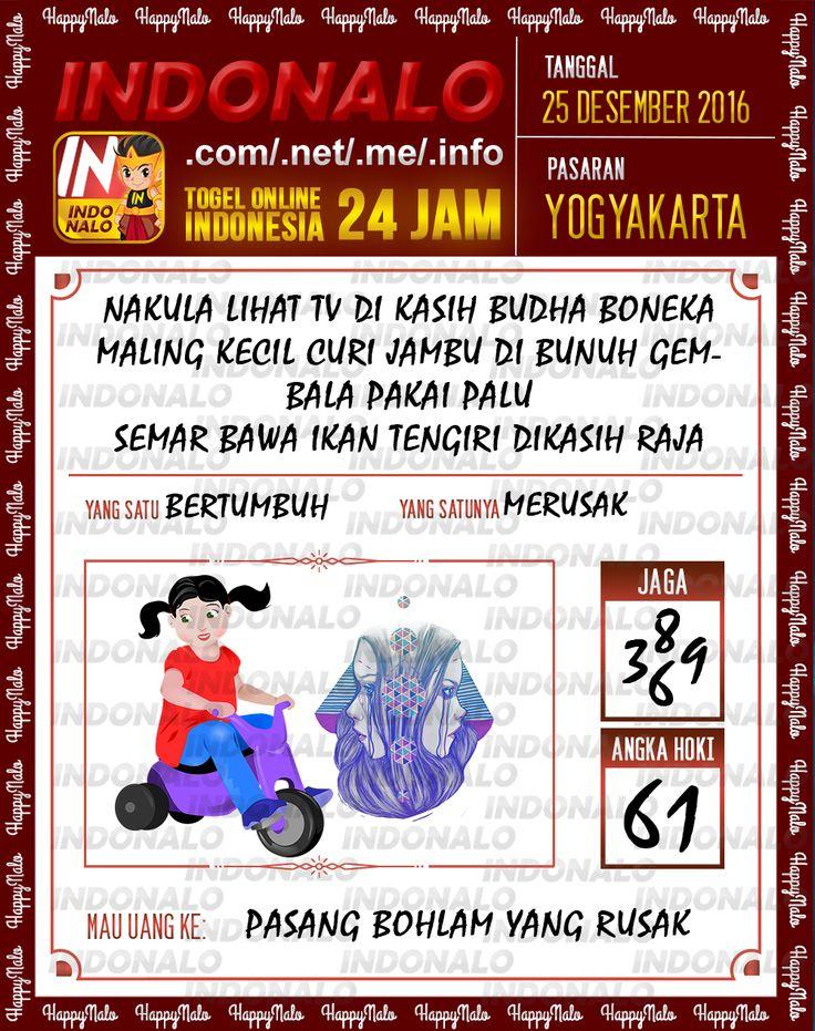 Kode Wangsit 2D Togel Wap Online Live Draw 4D Indonalo Yogyakarta 25 Desember 2016