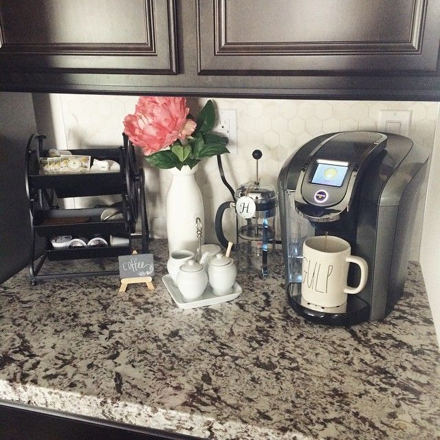 For Instagram fan peachesandpaisleys, her favorite spot in her house is her Keurig coffee corner! How have you set up your coffee corner?