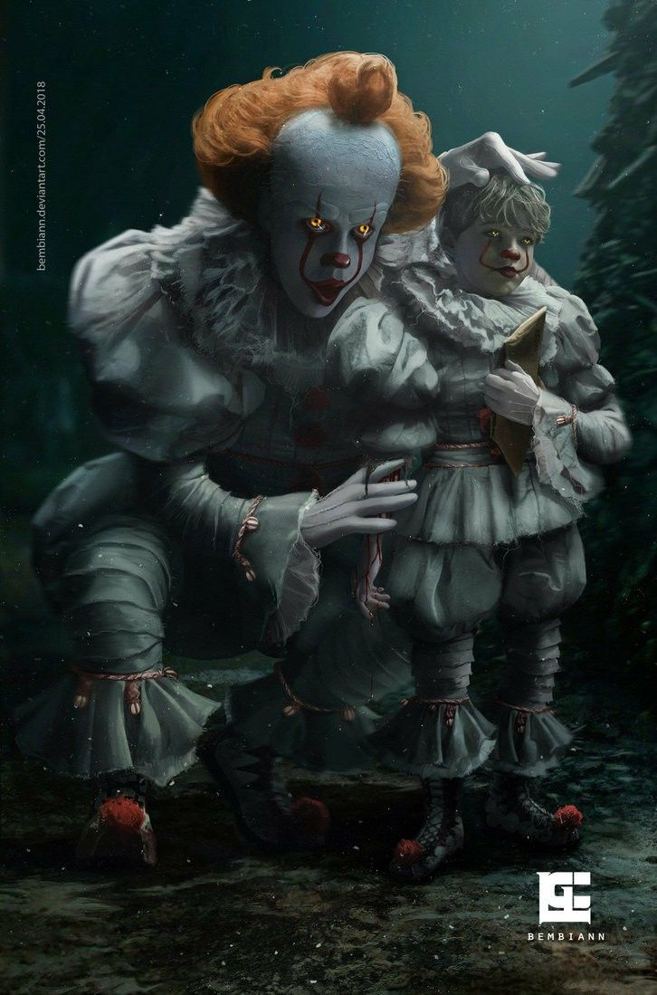 Pennywise And Georgie Personnage Film Horreur Art Epouvante