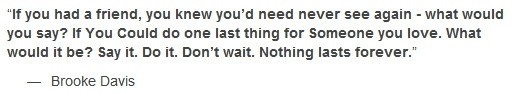 Brooke Davis Quote