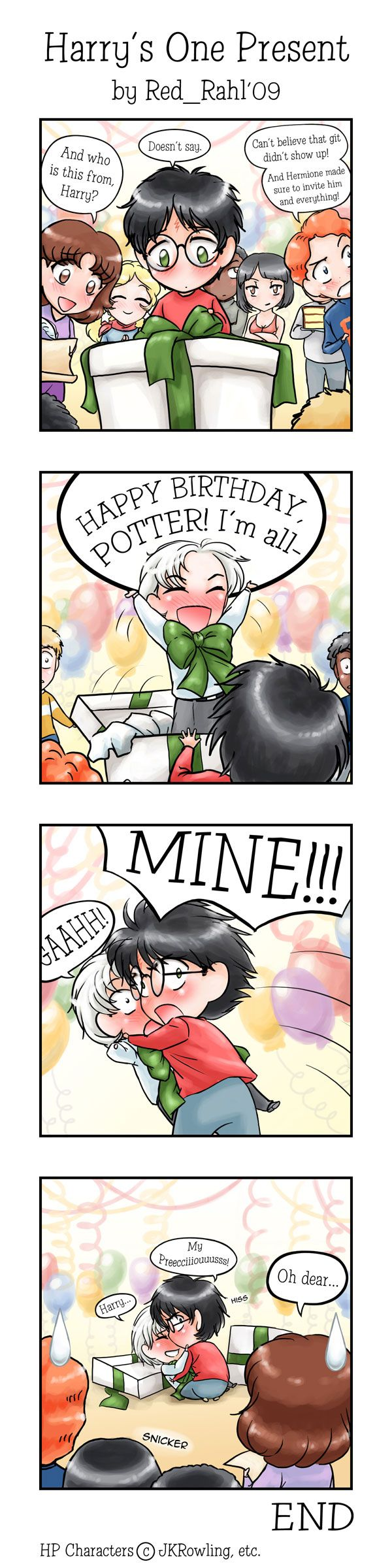 Chibi HD Comic: Harry's One Present (G) - Art on a Rampage!