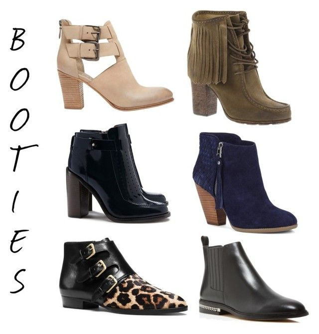booties | by earringsandstuff on Polyvore featuring polyvore, fashion, style, Tory Burch, MICHAEL Michael Kors, Frye, Sole Society, Mint Velvet, Fall and booties