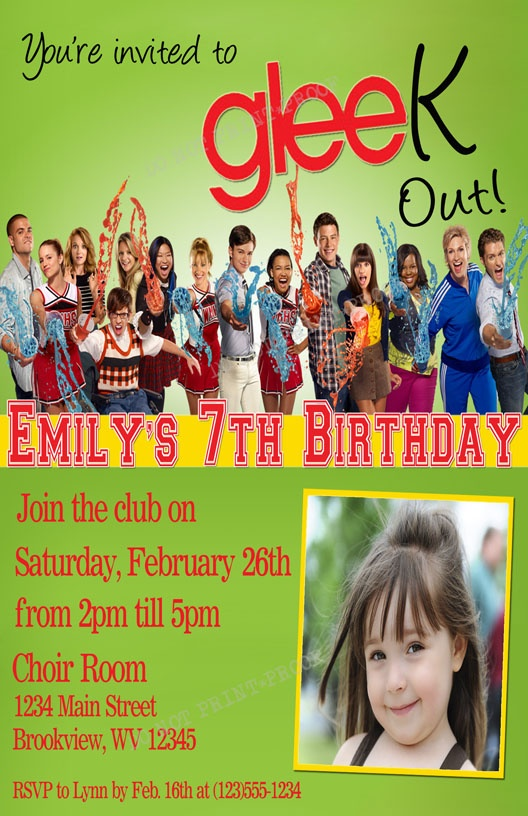 12 best Glee Party Ideas images – Glee Birthday Card
