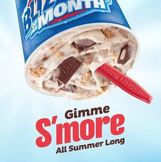 Be glad you don't live near a Dairy Queen and that you will get addicted to them! Thankfully the S'mores blizzard is only around for the summer or I'd drive through a real blizzard to get one of these!