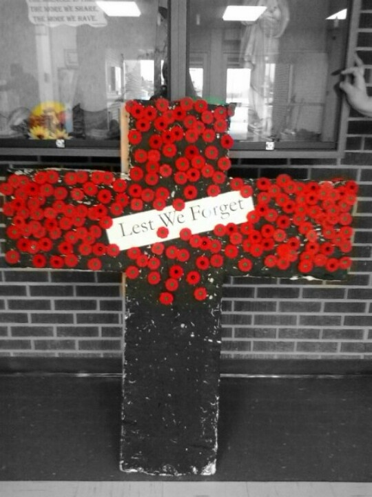 Rememberence day. Each poppy represents each kid that goea to my school including teachers...my school is so small >_<