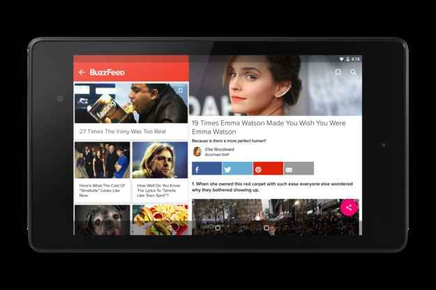 The BuzzFeed App: Made With Material For Android reLollipop