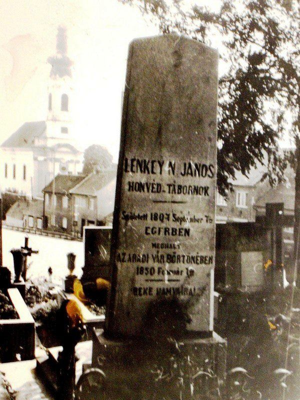 Eger, Kisasszony temető - Lenkey János honvédtábornok sírja