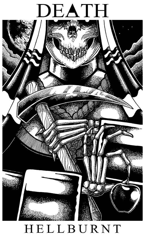 Drawing, death, tarot, artwork