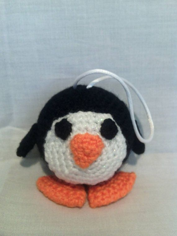 Crochet Penguin Christmas Tree Bauble by CarrotTopsCharacters
