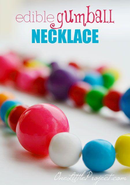 DIY Edible Gumball Necklace