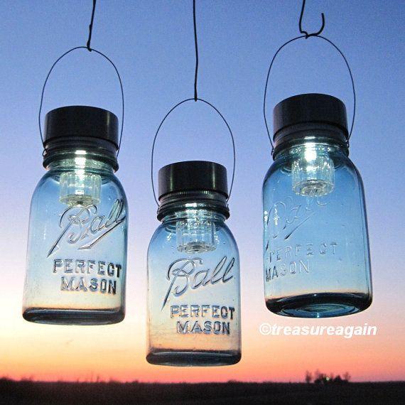 17 Best Images About Mason Jar Solar Lights On Pinterest