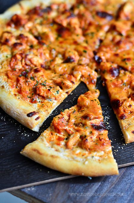 Spicy buffalo chicken pizza